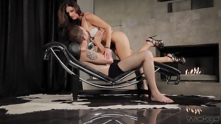 Shapely MILF India Summer introduces a young man yon pegging