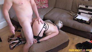 MILF wants to become famous so she tries playing submissive