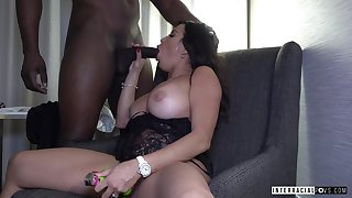 Toy delineated lady Julianna Vega just loves topping fat big black cock