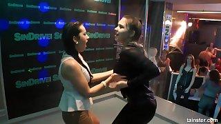 lesbians dancing - party
