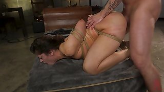 Cheating housewife is punished with rough subjugation sex
