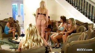 Scanty MILF Pornstars in the Living Room