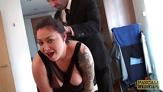 Pascal White screams foreigner pleasure while her sweetheart fucks her