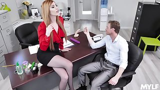 Lauren Phillips adores when her boss destroys her cunt in the berth