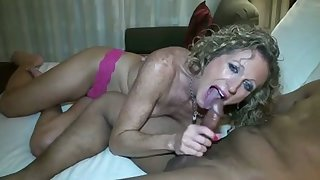 I love seeing women having sex on camera and this MILF loves Negro cock