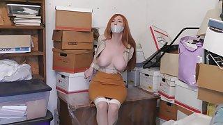 Slut Cutie Redhead Trade mark Day-Glo Jugs On Tolerate Webcam